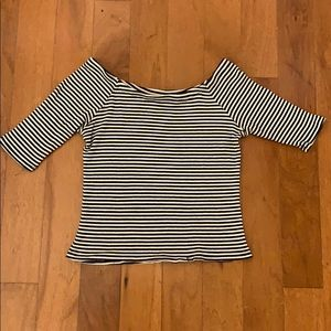 Black and white lines blouse